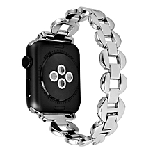 Stainless Steel Link Bracelet Watch Band Strap For Apple Watch Series 1/2 42MM-Silver