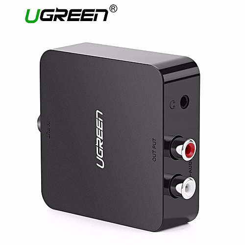 Ugreen UGREEN Digital to Analog Audio Converter, DAC, Digital Coaxial and Optical Toslink to Analog 2RCA RCA L/R and 3.5mm Audio Converter Adapter, ...