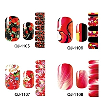 Hot stamping 3D Nail Art Stickers Decals For Nail Tips Decorations