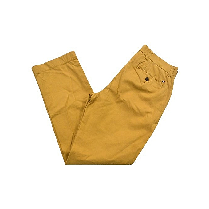 Mens Khaki Chinos Dress Pants Casual Work Trouser Slim Fit Not Relaxed Straight Classic Fit Soft Khaki Bronze Brown Yellow
