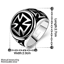 Hot Cool Fashion 316L Stainless Steel Cross Ring
