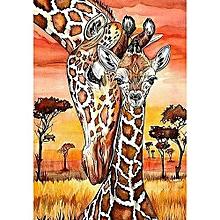 "Full 5D Diy Diamond Painting Cross Stitch ""Giraffe"" 3D Diamond Embroidery Rhinestone Decor Paintings"