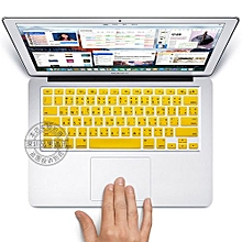 """13"""" Air Skin, US Type Thai Silicone Keyboard Cover For 2008-2015 Macbook 13.3"""" 15"""" Pro Reitna/Imac G6, Yellow"""