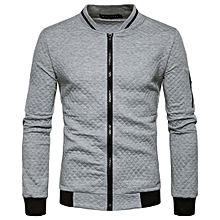 Mens Casual Hoodies Sweatshirts 2018 New Fashion Contrast Color Slim Fit Zipper Cardigan Argyle Hoodie Sweatshirt For Men