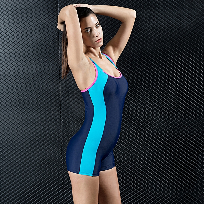 7c62a579316 ... Women Sports One Piece Swimsuit Swimwear Shorts Backless Bathing Suit  Swimming Suit Blue/Red/ ...