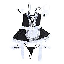 Lingerie Women Lace Costume Maid Cosplay Servant Fancy Dress Uniform