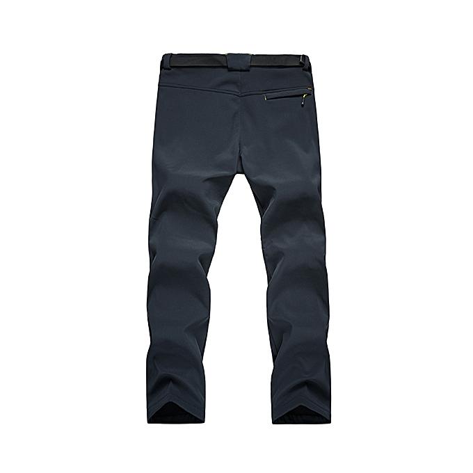 9a35da06b89d Fashion Mens Sport Pants Elastic Waist Soft Shell Warm Fleece Lined ...