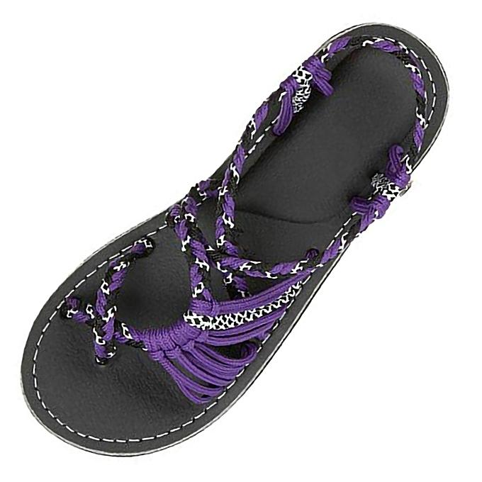c45101f46 ALEX most popular best rating lowest price Women Hemp Rope Flip Flops  Sandals Summer Fashion Roman