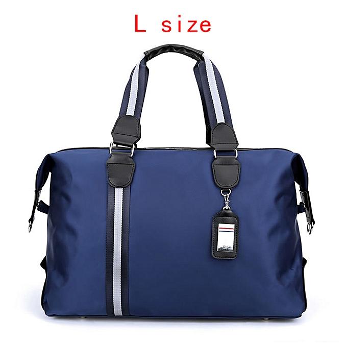 007364a16207 REREKAXI Large Capacity Men's Travel Bag Women Waterproof Nylon Hand  Luggage Bag Multifunction Travel Duffle Bags Packing Cubes(L Blue Travel  bag)