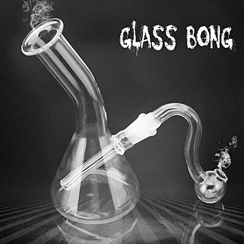 5'' Mini Hookah Shisha Water Glass Pipes Bong Tobacco Smoking Bottle Smoke  Bowl