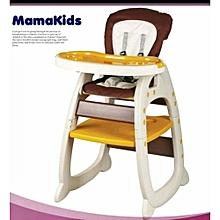 Convertible Baby High Chair, Feeding Chair - Brown
