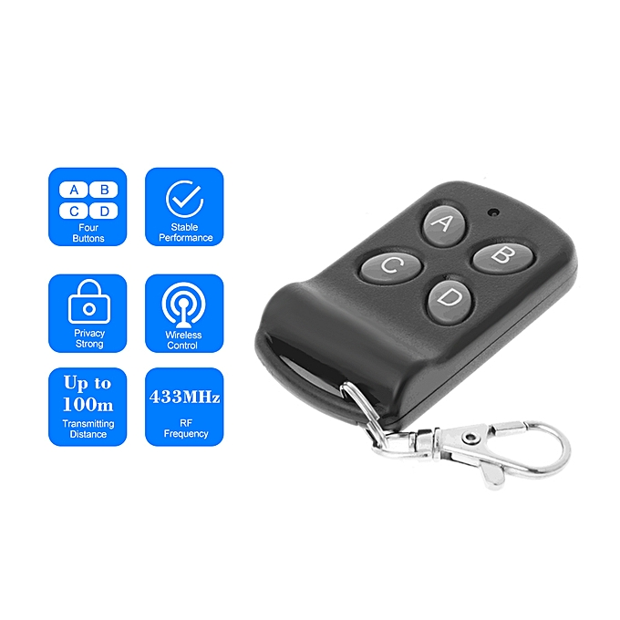 Access Control Kits 433mhz Wireless Remote Control Copy Code 4 Buttons Touch Switch Copying Transmitter Cloning Duplicator Garage Opener Control Key