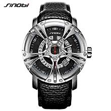 SINOBI 9759 Men Watch S Shock Military Watch for Man Eagle Claw Leather Strap Sport Quartz Watches Top Brand Luxury relogio masculino WWD