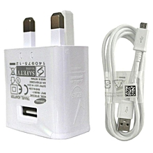 3 Pin  Super Fast Mains Charger - White