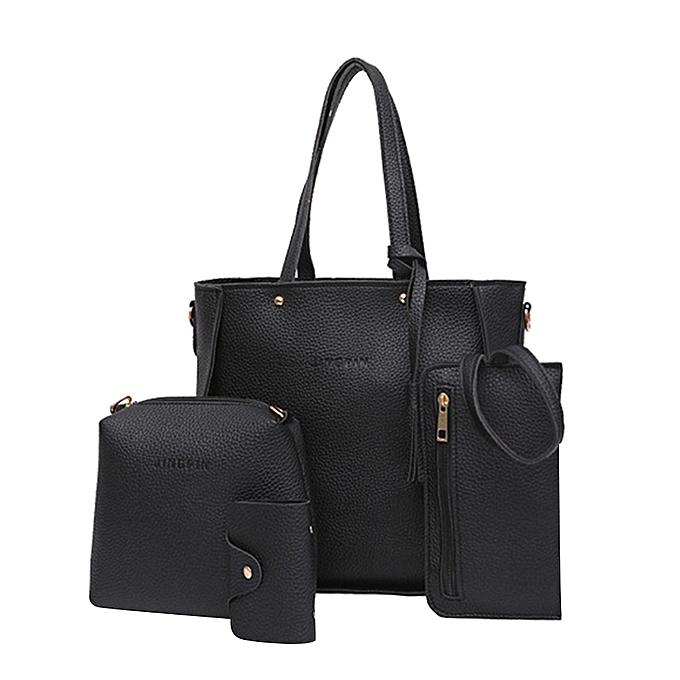 a6467e1856 guoaivo Four Set Handbag Shoulder Bags Four Pieces Tote Bag Crossbody  Wallet Bags BK