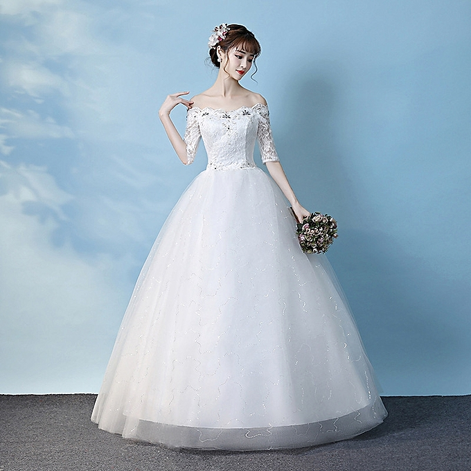 3cd5e08ff3ce GeneAfrica Bridal Dresses Off Shoulder Formal Dress - White @ Best ...