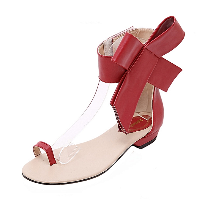 d12038916954a Blicool Shoes Fashion Women Girls Cute Bowknot Sandals Summer Shoes Party  Sexy Flat Sandals Red