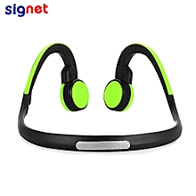 Signet BT - BK Bluetooth 4.1 Open-ear Bone Conduction Headphones Noise Canceling Headband with Microphone - GREEN