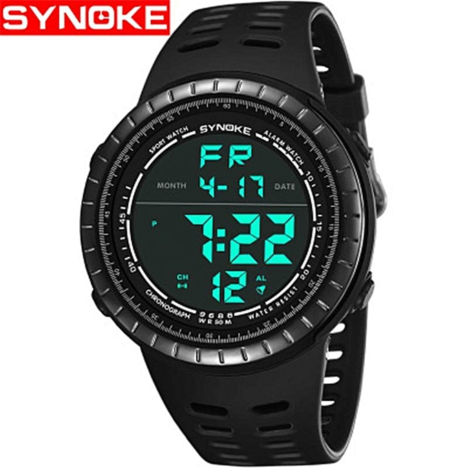bdb3385ad0 SYNOKE Fashion Men's Digital Watches Outdoor Sports Mens Watches Waterproof  Electronic Watches Male Clock Casual Luxury Watch BDZ