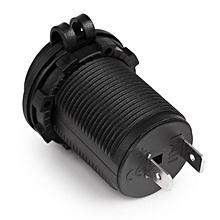Waterproof Car Motorcycle Cigarette Lighter Socket Plug Adapter For 12-24V