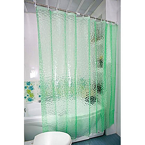 Mildew Resistant PEVA Shower Curtain Thicker Waterproof With 12 Free Hooks For Bathroom 709