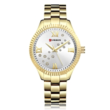 Women Watch Quartz Movement Crystal Wrist Watch-Gold Silver