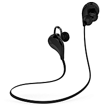 QCY QY7 Wireless Bluetooth Headset Fashion Sport Handsfree Headphones Stereo Music Bass Earphones fone de ouvido with Microphone (Black)  XUNDYD