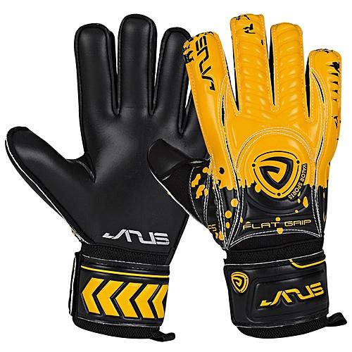 JANUS Professional Soccer Goalkeeper Gloves Finger Spine Protection  Thickened 4mm Latex Football Goalie Gloves Goal keeper Glove