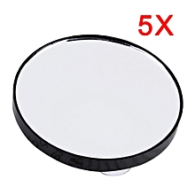 Mini Round Makeup Mirror 5X 10X 15X Magnifying Mirror With Two Suction Cups 5X