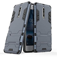For Nokia 8 (5.3inch) , Shockproof Hybrid Kickstand Rugged Armor PC+TPU Cover Case For Nokia 8 (5.3inch) Stand Protective Shell