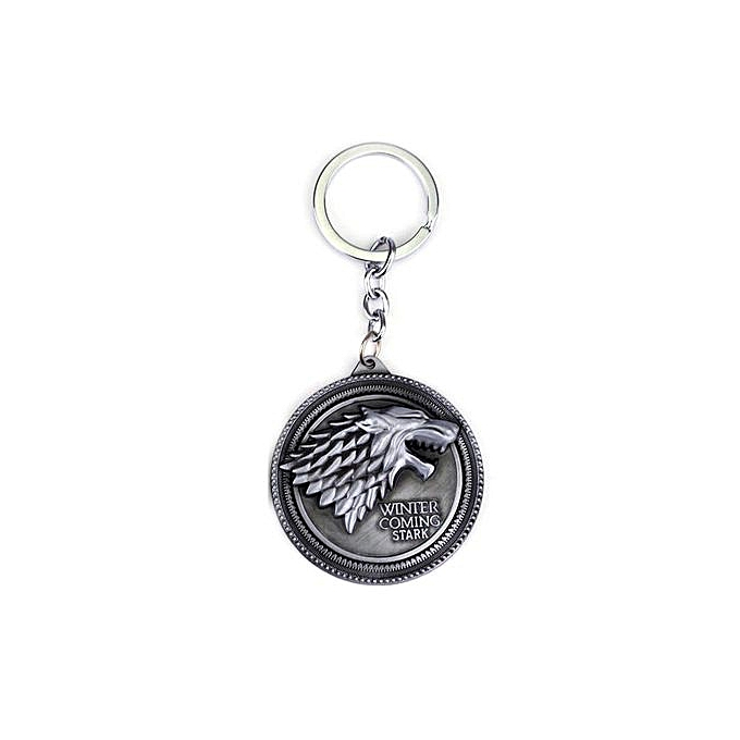 Game Of Thrones House Stark Car Key Chain Pendant Keychain Keyring Metal  Keyfob 975da9042ee8