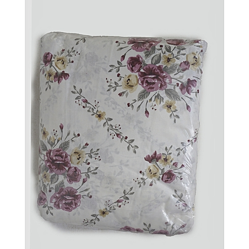 Amazing White Flowered Bed Sheets, One Flat, One Fitted And Two Pillow Cases