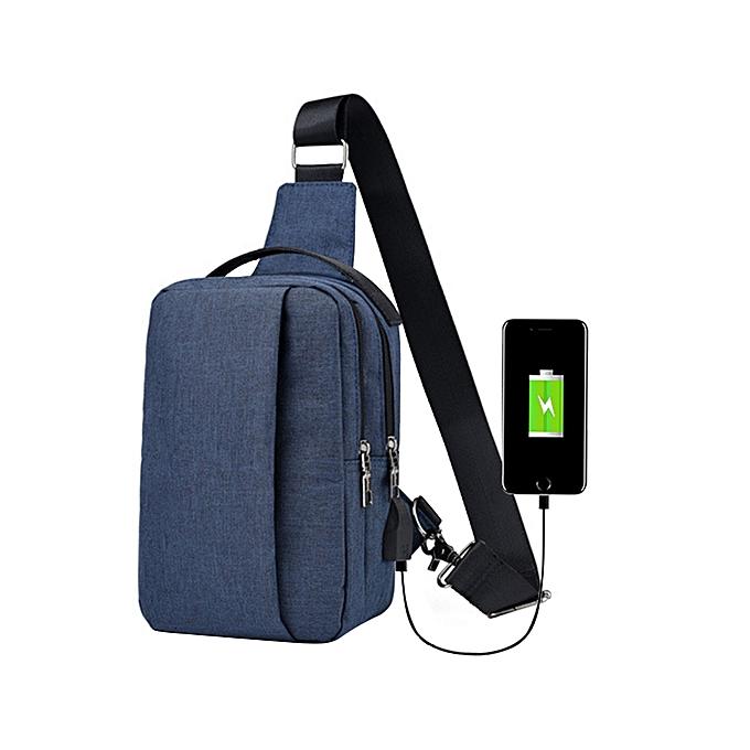 7fd64368cb Africanmall store Men  s Corset Canvas Sports Leisure Waterproof Charging  Outdoor Messenger Bag BU-