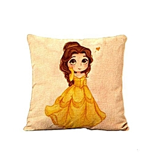 Mermaid Princess Pillow Cover -Blue