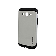 Armor Back Cover for Samsung Galaxy J5 - Silver & Black