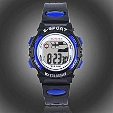 Tectores 2018 Fashion Multifunction Waterproof Children Boys Digital LED Sports Watch Kids Alarm Date Watch Gift