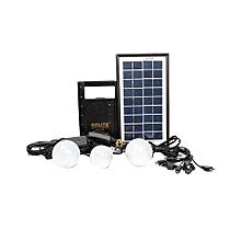 Solar Lighting System With FM Radio - Black