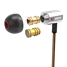 Hot KZ ED9 3.5mm In Ear Earphone Heavy Bass HIFI DJ Earphone Headset Earplugs Earbud Without Microphone For Mp3 Phone Common – Silver