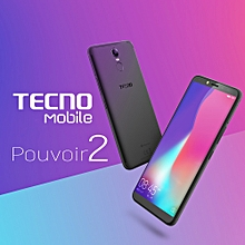 "TECNO Pouvoir 2 - 6"" - 16GB + 3GB (Dual SIM), Black"