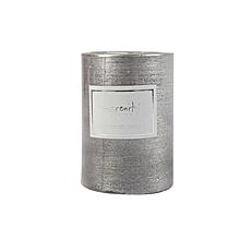 Pillar Candle - 7cm x 10cm - Silver