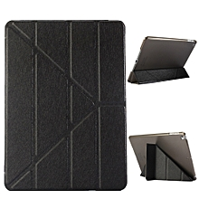 Leather Slim Folding Stand Painted Case Cover For Ipad 9.7Inch 2017 Tablet BK