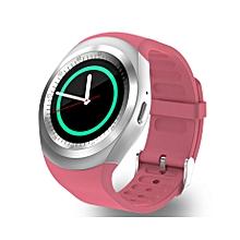 Y1 Smart Phone Watch -( MTK6261) - Bluetooth 3.0 280mAh - Pink