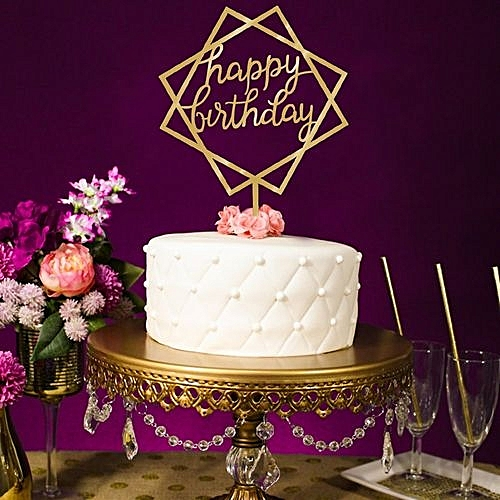 Buy Generic New Birthday Cake Topper Insert Card 2018 Graduation Acrylic Decoration Best Price