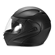 Motorcycle Helmet Full Face Dual Visor Modular Open Double Lens Safety Matte Black M