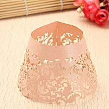 Filigree Vine Cupcake Cake Wrappers Wrap Case Wedding Birthday Decor Color Pink