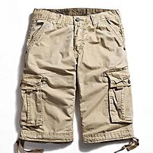 Outdoor Large Size Pure Cotton Washing Cargo Shorts Multi Pocket Casual Men's Shorts