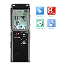 Digital Voice Recorder EIVOTOR 8GB 1536Kbps Sound Audio MP3 LCD Screen Player Professional Dictaphone USB Rechargeable Voice Recording With Earphone