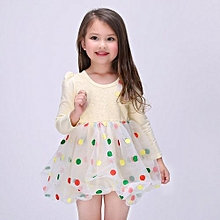 Little Pretty Girls's Bubble Dress Sleeveless Bowknot Corsage Trim Princess Dress