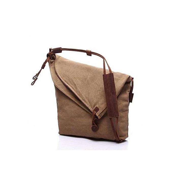 6060dc01d68a Canvas Bag Crazy Horse Leather Sling Messenger Bag New Trend Of Men And  Women Cloth Slung