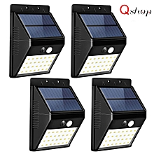 【4 Pack】Upgraded Solar Lights 28 LED Wall Light Outdoor Security Lighting Nightlight with Motion Sensor Detector for Garden Back Door Step Stair Fence Deck Yard Driveway WWD